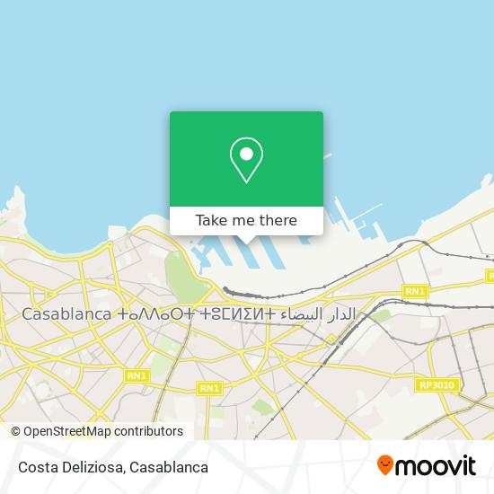 Costa Deliziosa map