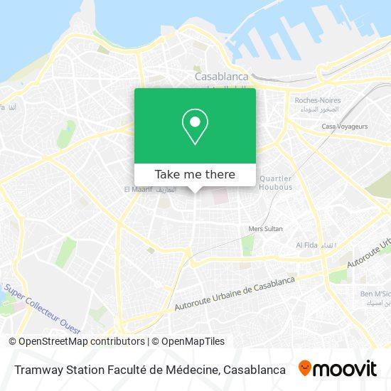 Tramway Station Faculté de Médecine map