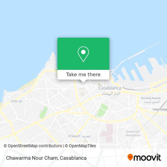 Chawarma Nour Cham map
