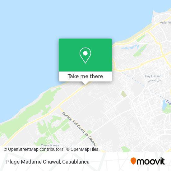 Plage Madame Chawal map