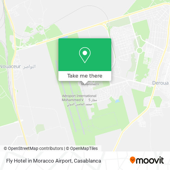 Fly Hotel in Moracco Airport map