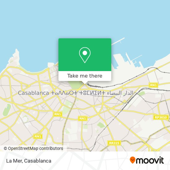 La Mer map