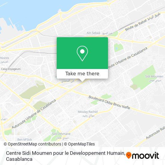 Centre Sidi Moumen pour le Developpement Humain map