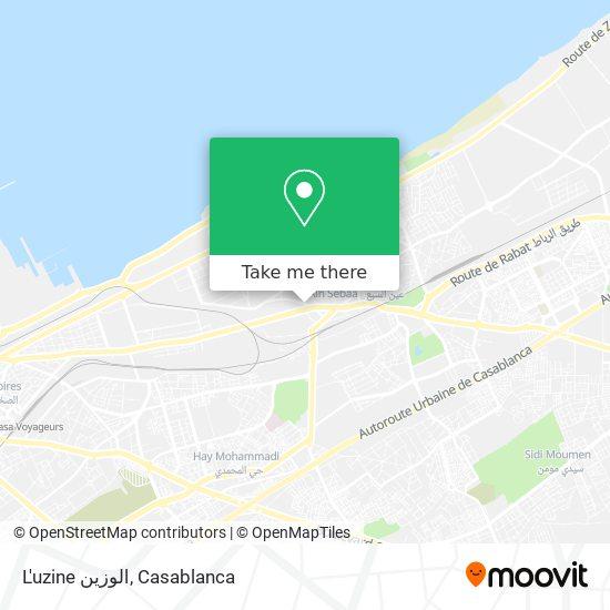L'uzine الوزين map