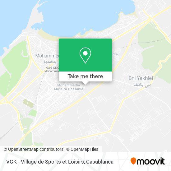 VGK - Village de Sports et Loisirs map