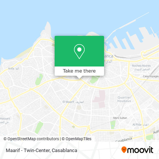 Maarif - Twin-Center map