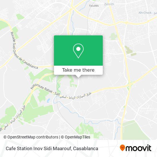 Cafe Station Inov Sidi Maarouf map