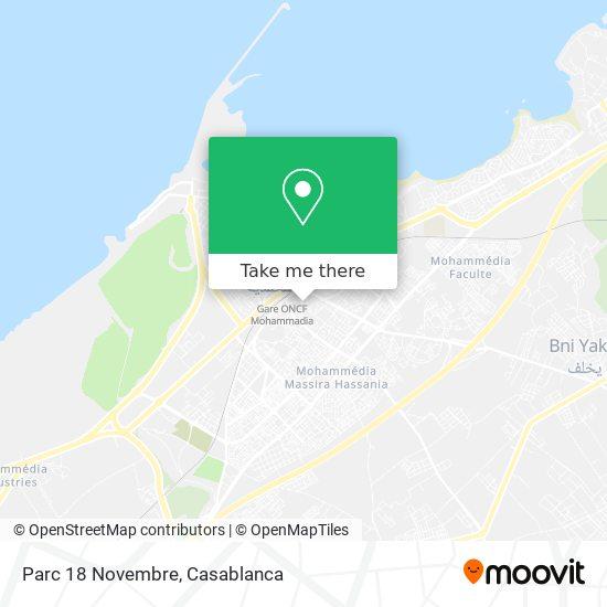 Parc 18 Novembre map