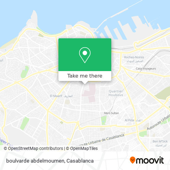 boulvarde abdelmoumen map