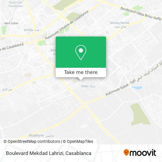 Boulevard Mekdad Lahrizi map