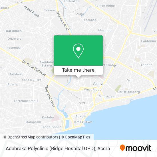 Adabraka Polyclinic (Ridge Hospital OPD) map