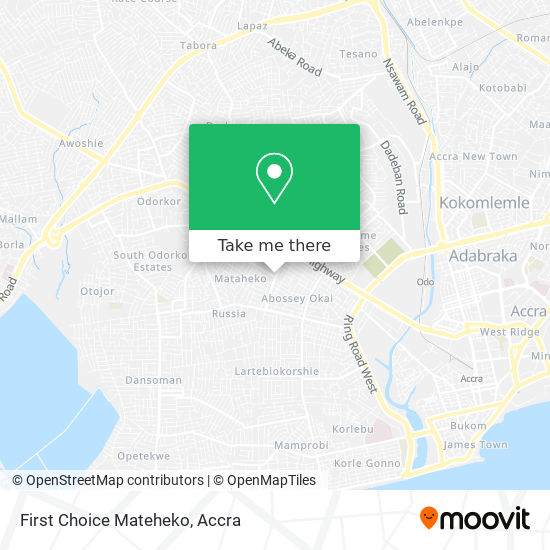 First Choice Mateheko map
