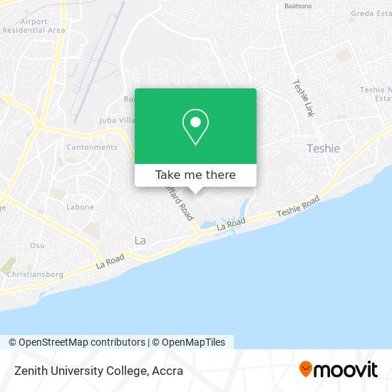 Zenith University College map