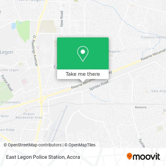 East Legon Police Station map