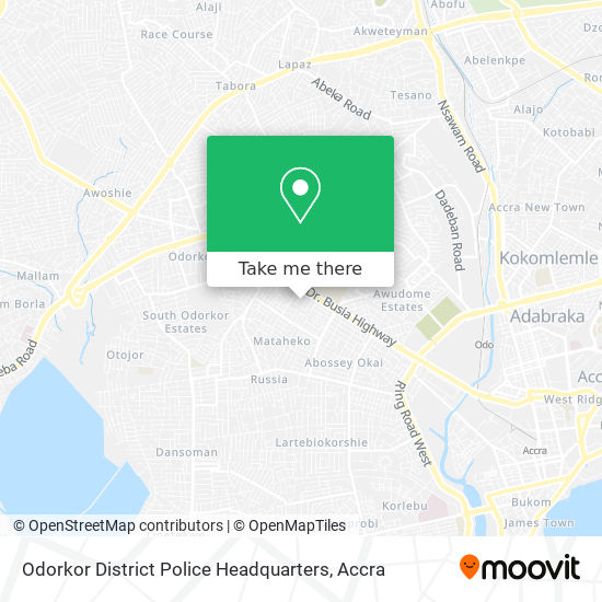 Odorkor District Police Headquarters map