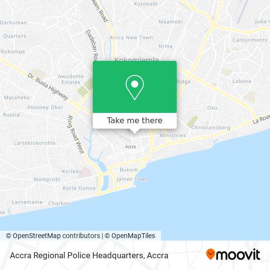 Accra Regional Police Headquarters map