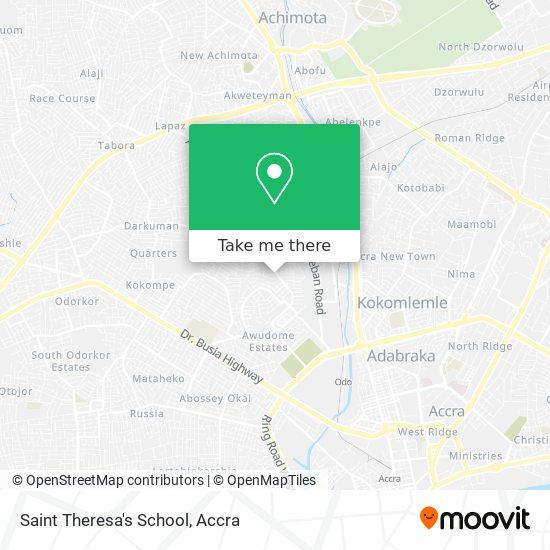 Saint Theresa's School map