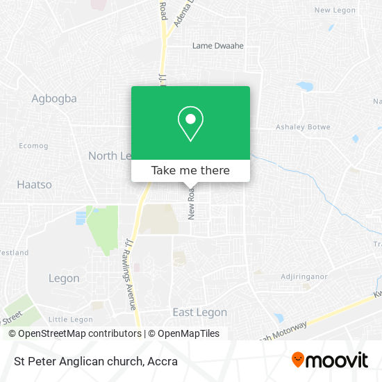 St Peter Anglican church map