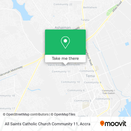 All Saints Catholic Church Community 11 map