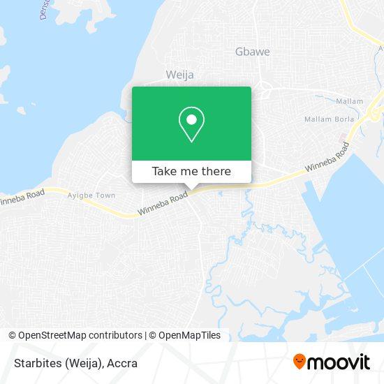 Starbites (Weija) map