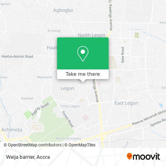 Weija barrier map