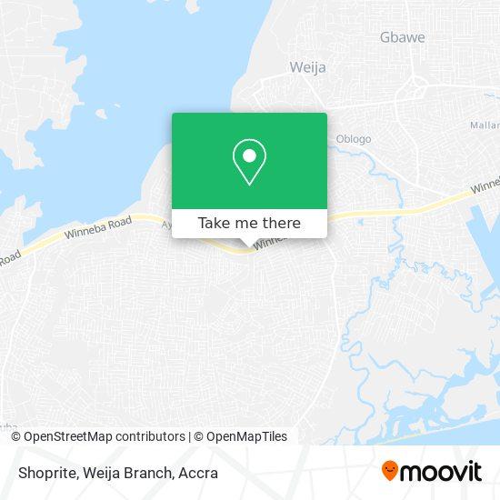Shoprite, Weija Branch map