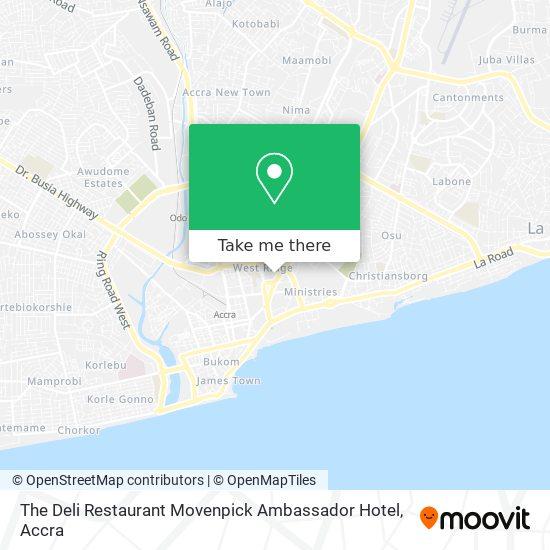 The Deli Restaurant Movenpick Ambassador Hotel map
