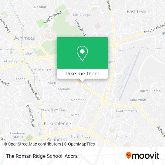 The Roman Ridge School map