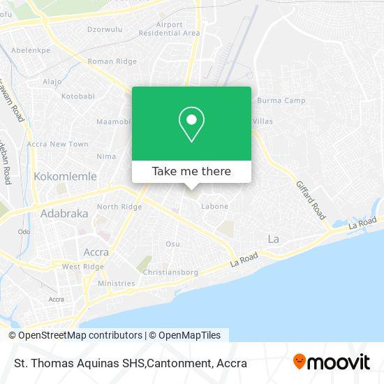 St. Thomas Aquinas SHS,Cantonment map