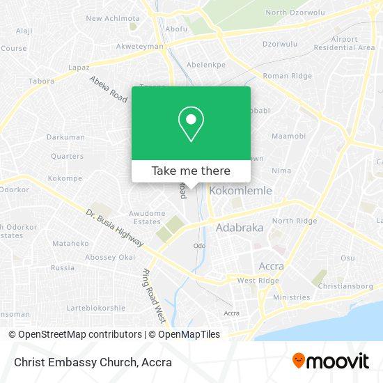 Christ Embassy Church map