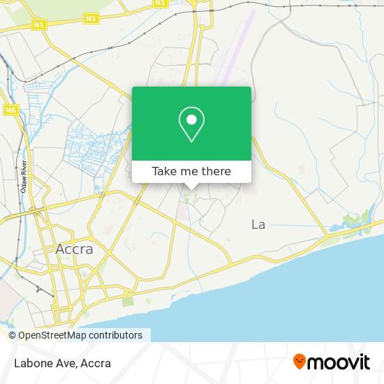 Labone Ave map