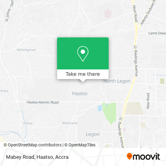 Mabey Road, Haatso map