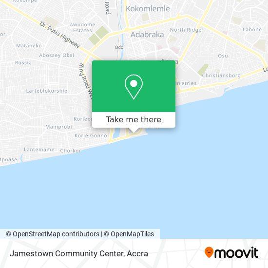 Jamestown Community Center map