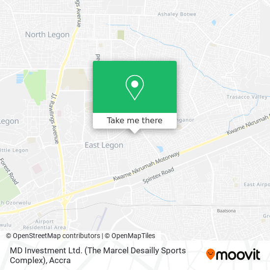 MD Investment Ltd. (The Marcel Desailly Sports Complex) map