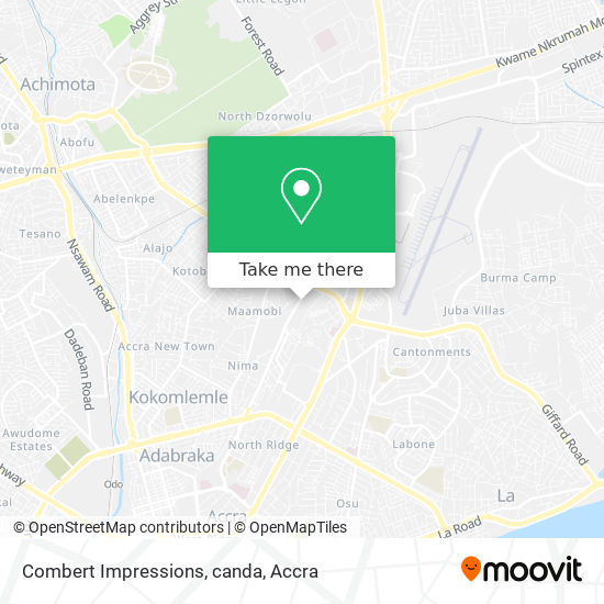 Combert Impressions, canda map