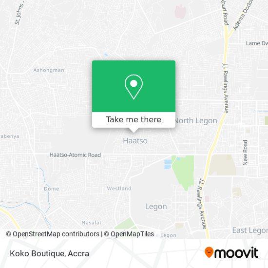 Koko  Boutique map