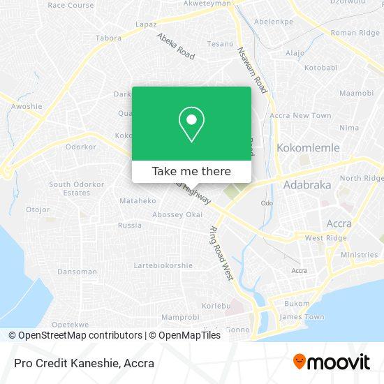 Pro Credit Kaneshie map