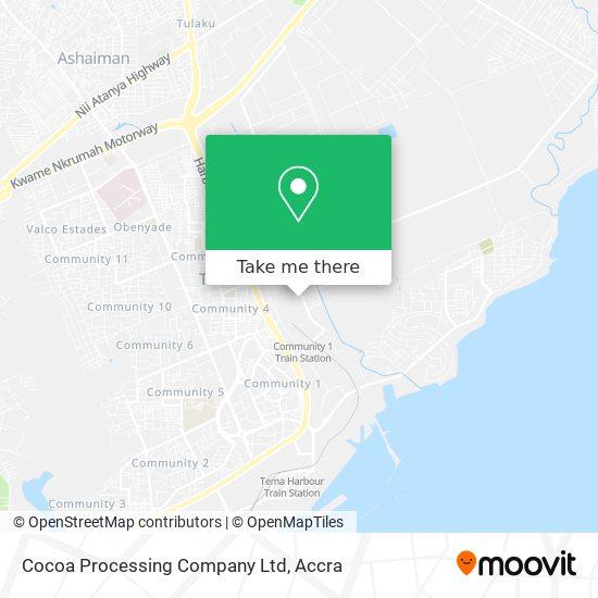 Cocoa Processing Company Ltd map