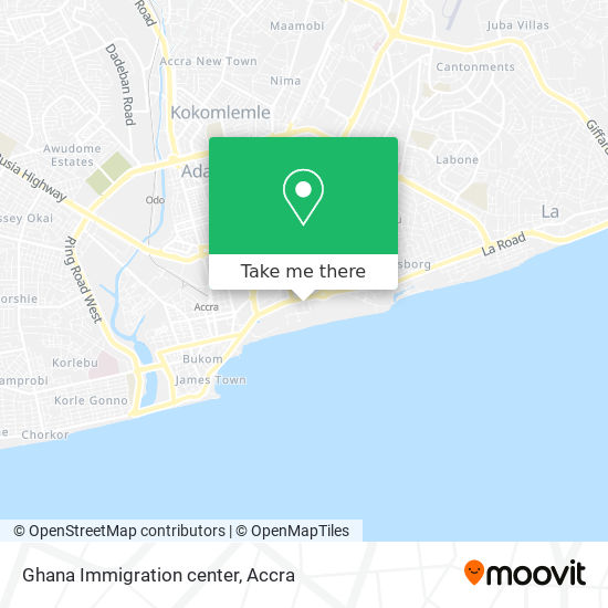 Ghana Immigration center map
