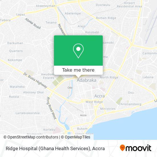 Ridge Hospital (Ghana Health Services) map