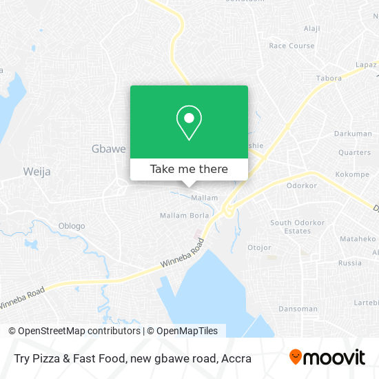 Try Pizza & Fast Food, new gbawe road map