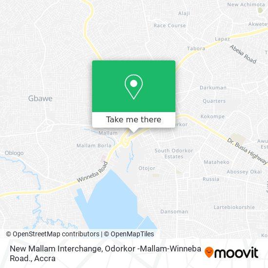 New Mallam Interchange, Odorkor -Mallam-Winneba Road. map