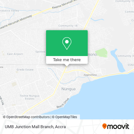 UMB Junction Mall Branch map