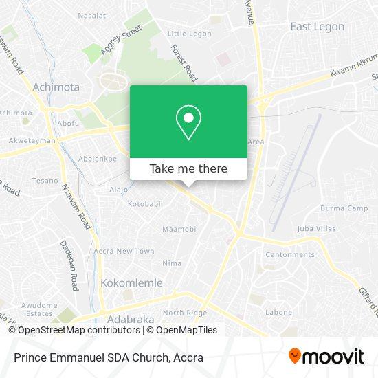 Prince Emmanuel SDA Church map