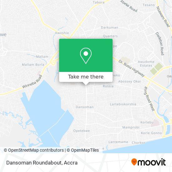 Dansoman Roundabout map