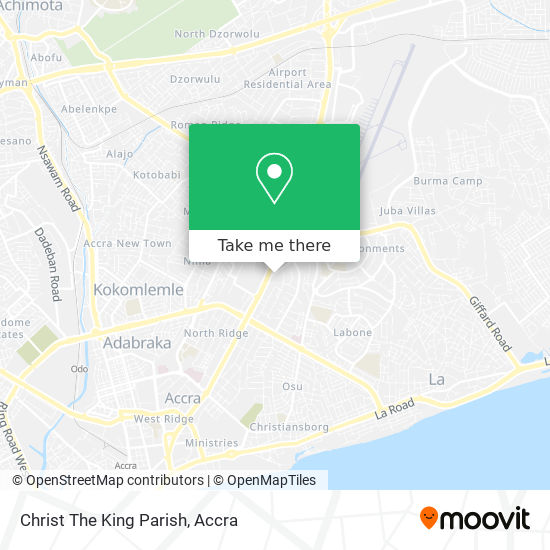 Christ The King Parish map