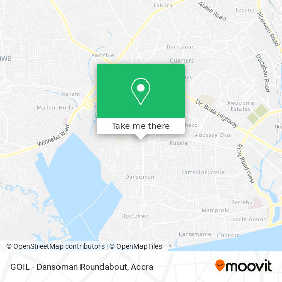 GOIL - Dansoman Roundabout map