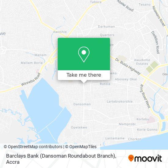 Barclays Bank (Dansoman Roundabout Branch) map
