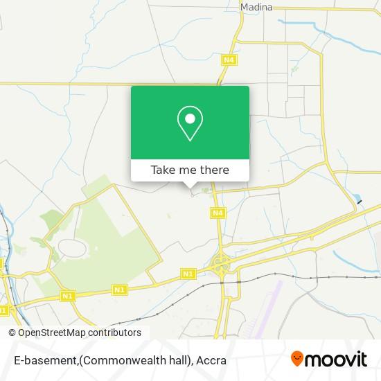 E-basement,(Commonwealth hall) map