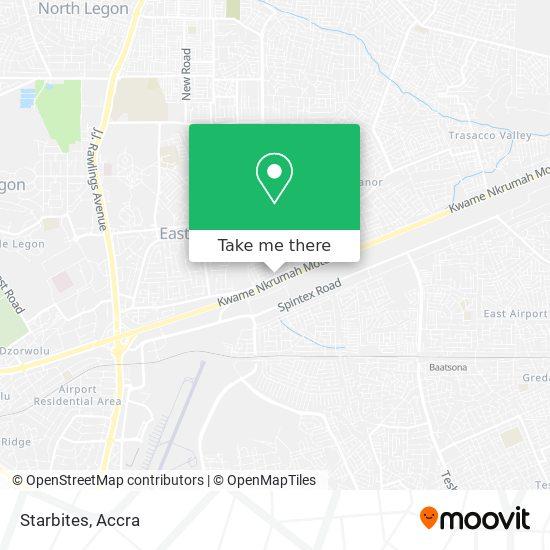 Starbites map